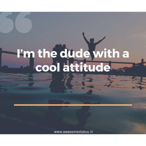 I'm the dude
