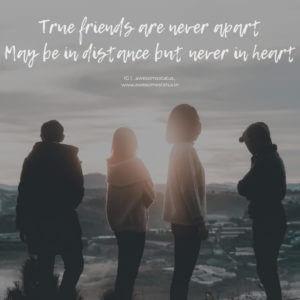 latest caption on friendship