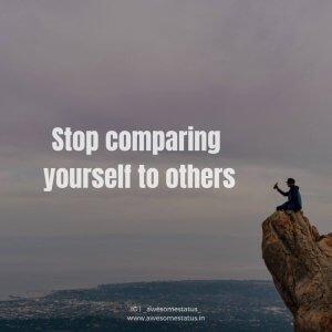 dont't compare quote