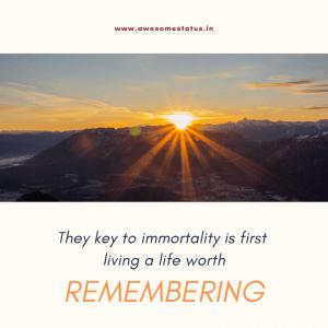 immortality status