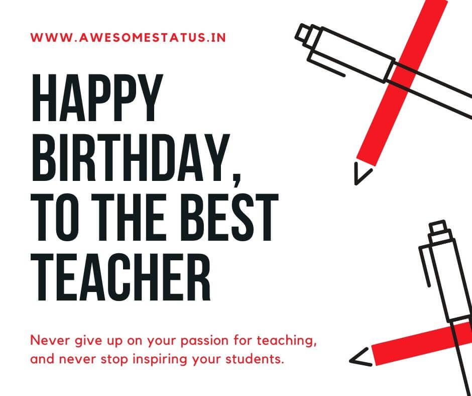 birthday sms for teacher
