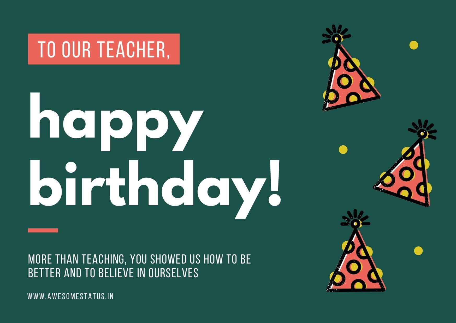 greeting for teacher for birthday