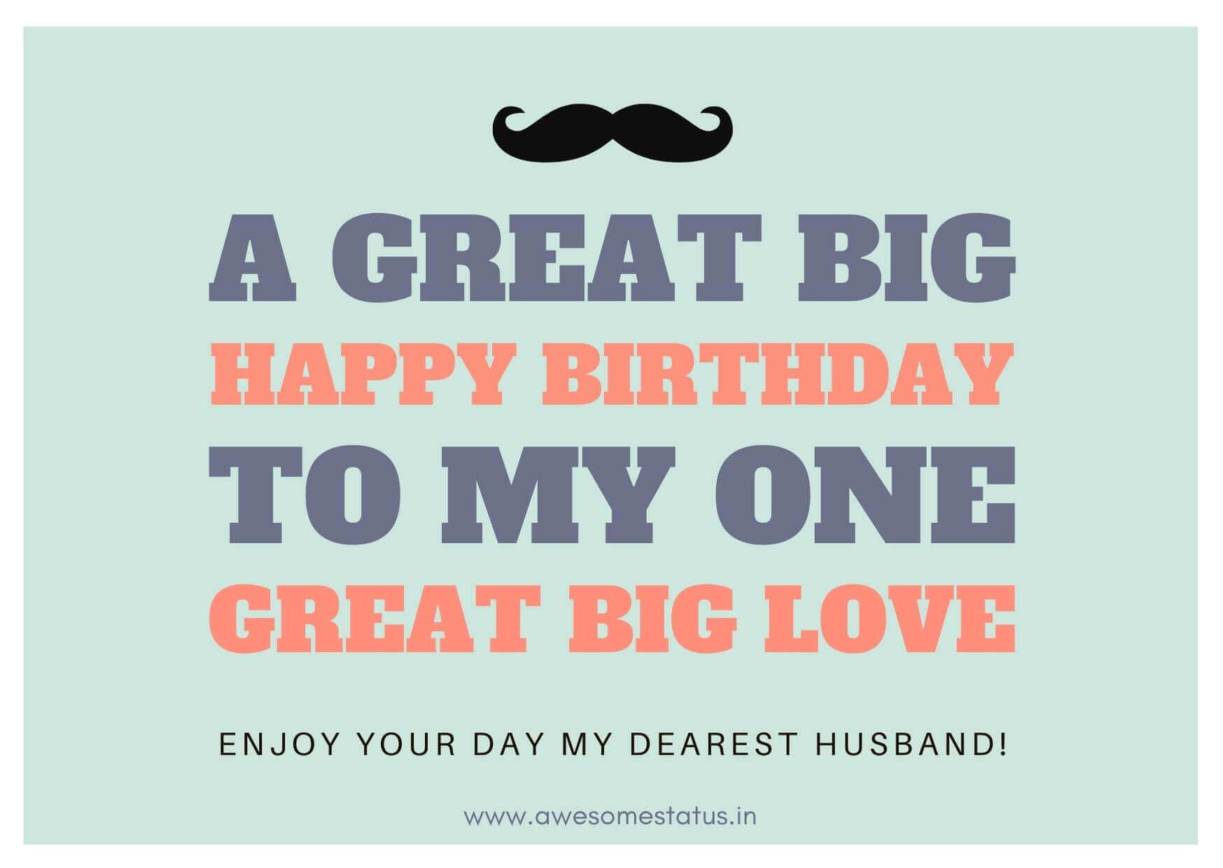 Husband's birthday